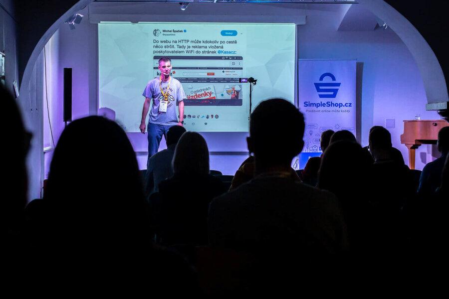 Jiří Krejčík na kolínském barcampu 2019
