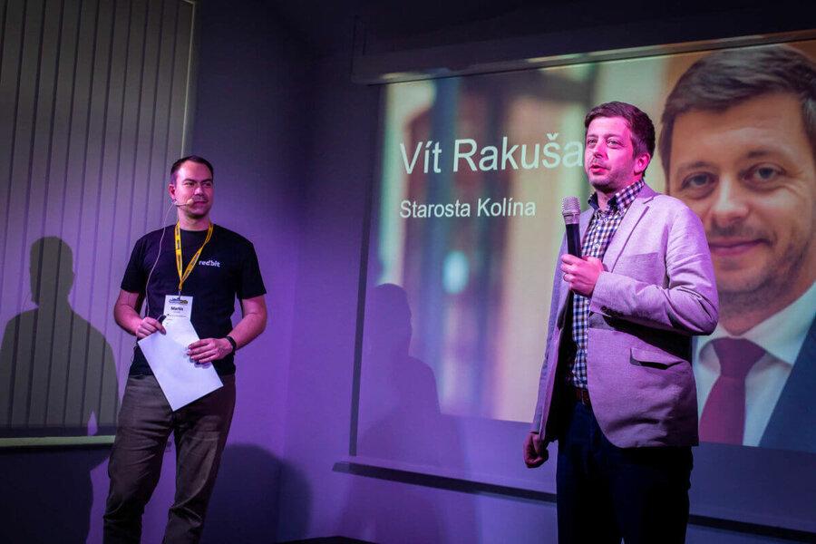 Starosta města Kolína Vít Rakušan na kolínském barcampu 2019